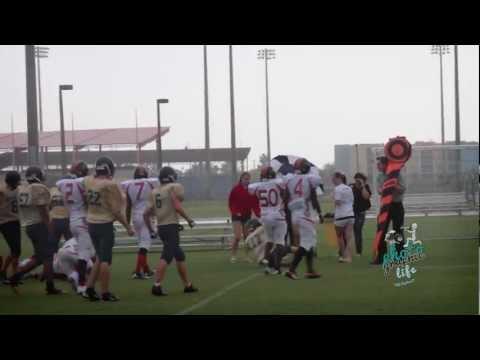 Grace Academy hawks vs Donahue Academy - 10/02/2012
