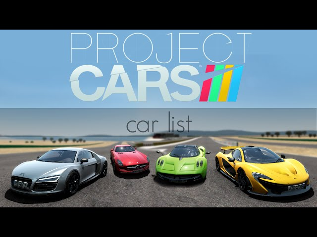 Project CARS - Car list - YouTube