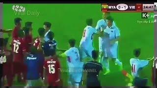 Download video Ricuh!! Myanmar(2) VS Vietnam(1) Gesekan Antar Pemain #U-19 AFF 2017