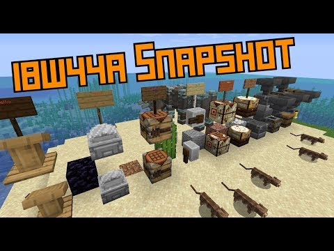 1.14 Snapshot! (18w44a)- New Crafting Tables, Cats and Loots