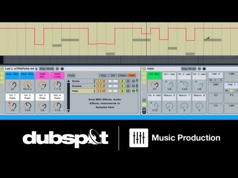 Ableton Live Tutorial: Trap Beat Patterns - Build a Custom Instrument Rack for Drum Programming Pt 3
