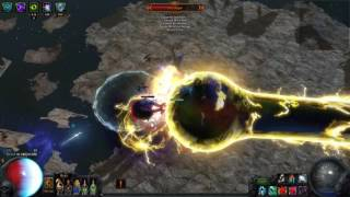 Path of Exile - BSC - Shaper Supernooby run with OP ST HoWA  Build