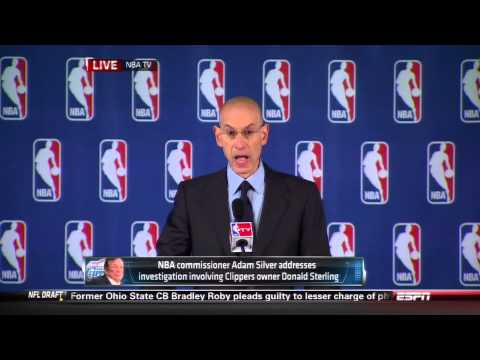 Adam Silver Announces lifetime ban of Donald Sterling