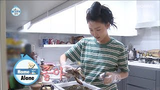 "Every Night, Hwa Sa Said in Bed ""I'm craving marinated crabs"" [Home Alone Ep 252]"
