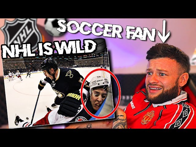 SOCCER FAN Reacts to NHL HARDEST HITS    HOW ARE THEY ALIVE...
