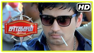 Saahasam Tamil movie | Scenes | Sonu wants to leave place | Prasanth gives idea to police | Amanda