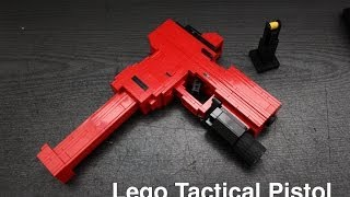 Lego Tactical Pistol (Glock 17) with working parts!