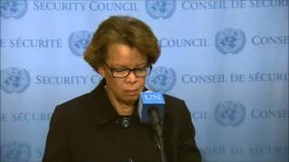 Sandra Honore taking questions on Nehemy Joseph, Cholera, DR