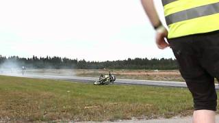 Motorcycle crash at Carnia 2011