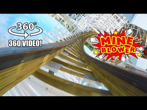 Mine Blower VR 360 Roller Coaster POV Fun Spot America Orlando