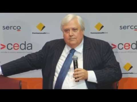 Clive Palmer Q and A session  at CEDA on the 22nd June 2015