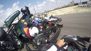 Accidente en la salida Elche karting Club