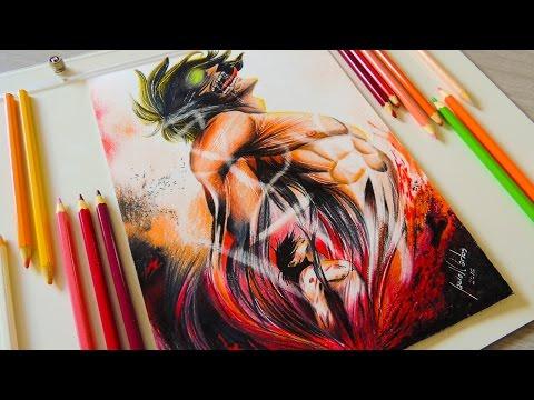 Desenho Gamer - Desenhando Eren Jaeger