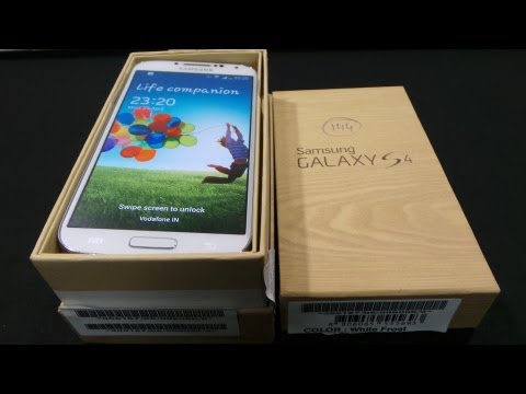Samsung Galaxy S4 GT-I9500 - Unboxing & Hands-on - Cursed4Eva.com