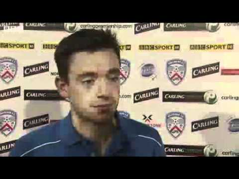 Paul Owens scored two goals direct from corners in the second half of Coleraine's 3-1 win over Glenavon in the Irish Premiership. Owens took advantage of the strong wind at the Showgrounds...