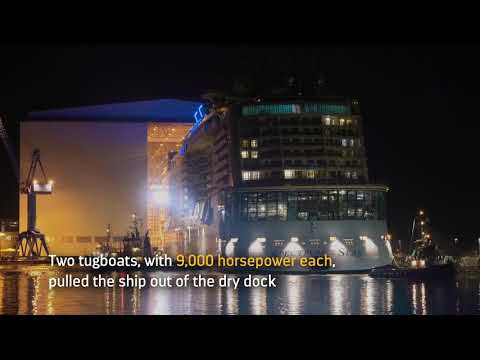 Spectrum of the Seas floats out in Germany
