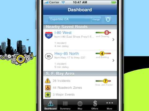 Traffic.com iPhone & iPod Touch Application - Demo