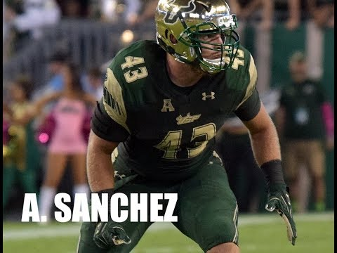 Auggie Sanchez, USF NFL Pro Day Training - 2.24.18