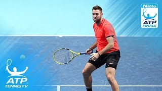 Marcelo Melo hit by huge Jack Sock forehand! | Nitto ATP Finals 2018