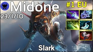 Midone [Secret] plays Slark!!! Dota 2 7.21