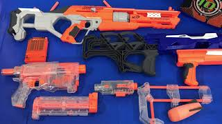 Box of Toys Toy Blasters Nerf Guns Toy Weapons Attachments