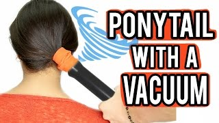 Beauty Busters: Poop or Woop? PONYTAIL WITH A VACUUM!
