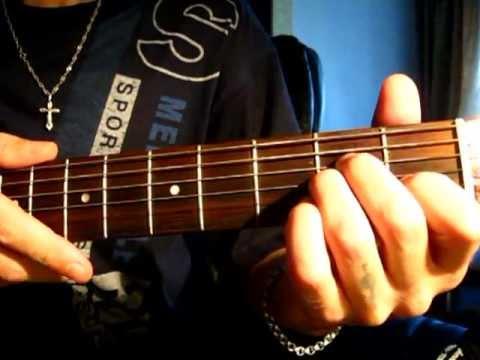 белое черным на гитаре видео