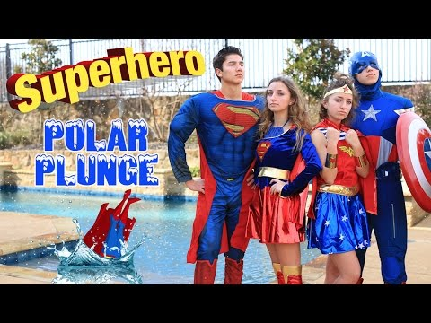Superhero Polar Plunge 2017 | Brooklyn and Bailey Challenge Videos