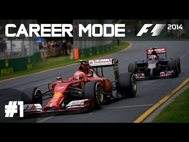 F1 2014 Career Mode Part 1 - Australian Grand Prix