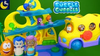Bubble Guppies Toys Swimsational School and Bus Playset Gil Molly Nonny Goby Oona Bubble Puppy Toys