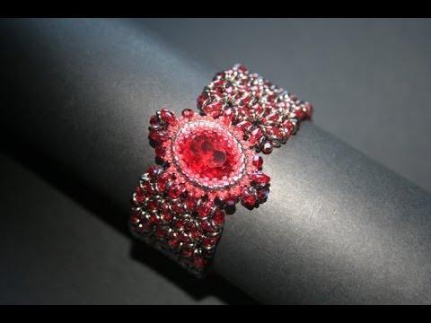 Bracciale con O Beads, Superduo, Cristalli Swarovski e Cabochon Swarovski - Millelucistones.com