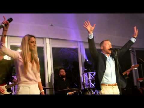 Ronan Keating performing Life is a Rollercoaster with Girlfriend Storm