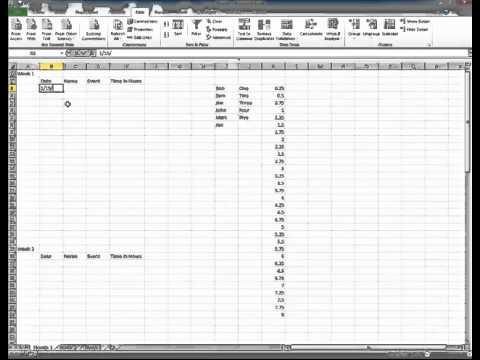 create microsoft excel 2010 tracking sheet youtube. Black Bedroom Furniture Sets. Home Design Ideas