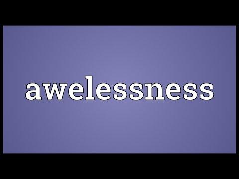 Header of awelessness