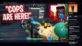 I Stream Sniped an ANGRY KID & HE CALLED THE POLICE ON ME LIVE ON STREAM! INSANE Fortnite