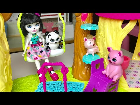 Алина играет в куклы Enchantimals Игра для девочек
