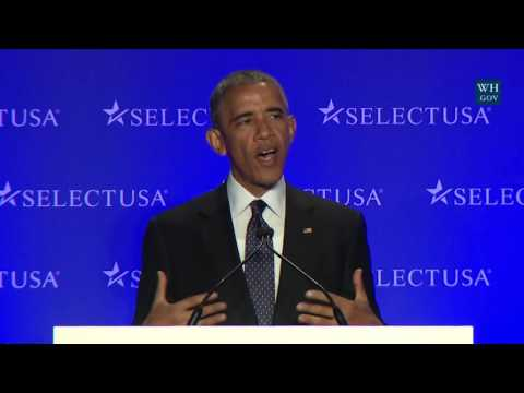 President Obama Speaks at the SelectUSA Investment Summit