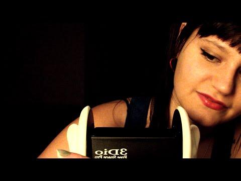 ASMR. Truly Binaural 3dio Ear to Ear Crinkles and Close Breathy Whispering (Mic Test)