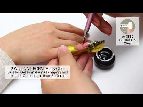UR SUGAR Semi-transparent Builder Gel and French Nails