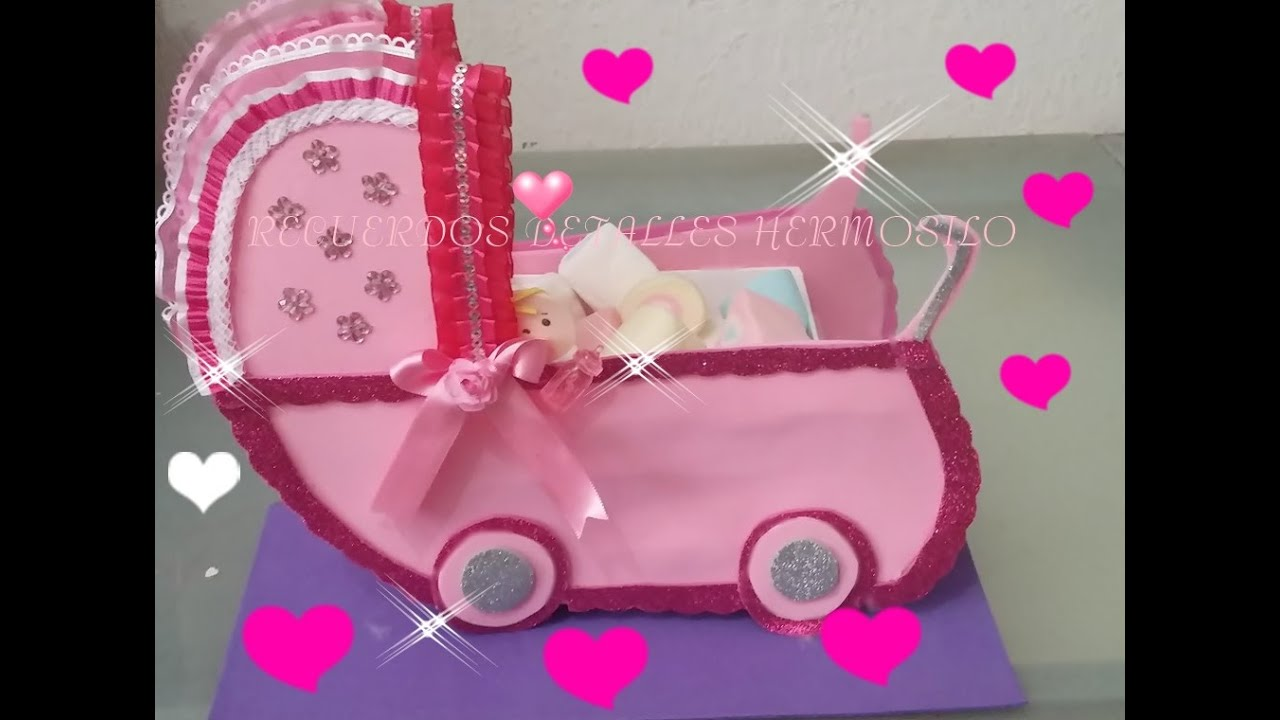 Diy como hacer centro de mesa baby shower carreola youtube - Centros de mesa para baby shower ...