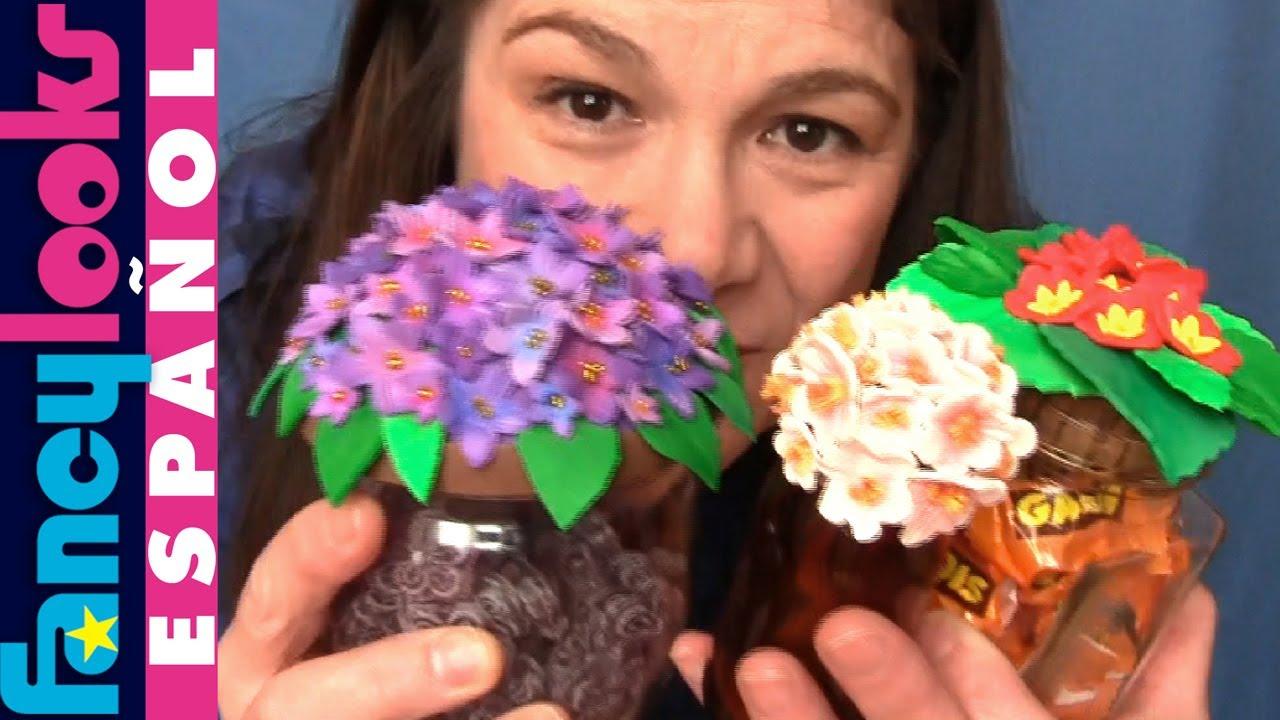 C mo hacer flores de goma eva en tapas de tarros de vidrio - Como cuidar una hortensia de exterior ...