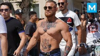Conor McGregor Ready for Heavyweight Division (Prank)   Muscle Madness