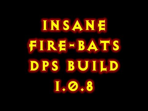 Diablo 3 1.0.8 Witch Doctor Fire Bats Insane Dps Build !