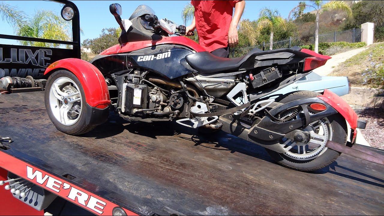Can Am Spyder Brp Trike Roadster Motorcycle Bike