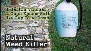 Natural Weed Killer - Vinegar, Epsom Salt, Blue Dawn Dish Liquid
