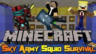 Minecraft Mini-game: Sky Army Squid Survival!