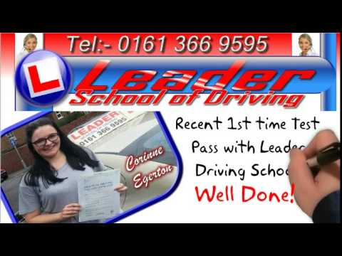 Driving Lessons Manchester and Tameside !st time pass with Leader