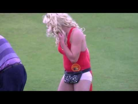 I never knew Pamela Anderson was a cricket fan, until I spotted her at the Glamorgan v. Leicestershire Sunday League match in Swansea on August 25th, 2013. N...