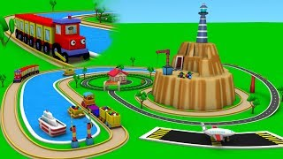 Toy train videos for Children - Trains for children - choo train cartoon - Toy Factory Cartoon