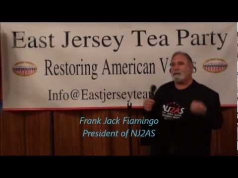 NJ2AS PRESIDENT Frank Jack Fiamingo speaks at East Jersey Tea Party meeting.